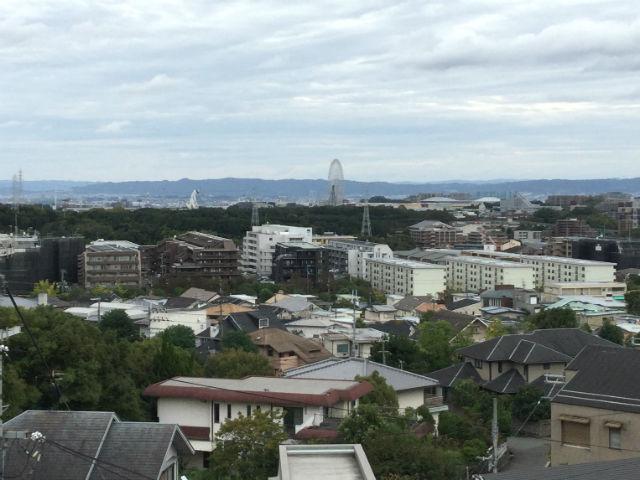 千里中央公園の展望台からの眺め