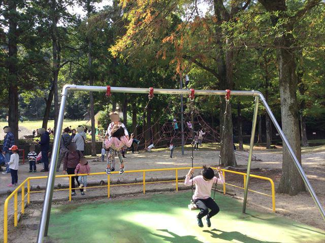宝が池公園「子どもの楽園」ブランコ