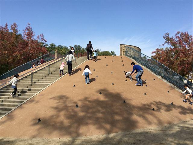 宝が池公園「子どもの楽園」滑り台