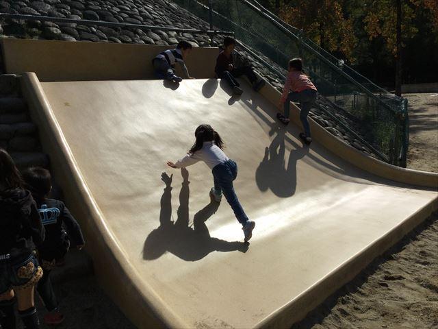 宝が池公園「子どもの楽園」ミニ滑り台