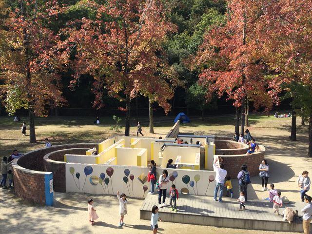 宝が池公園「子どもの楽園」迷路