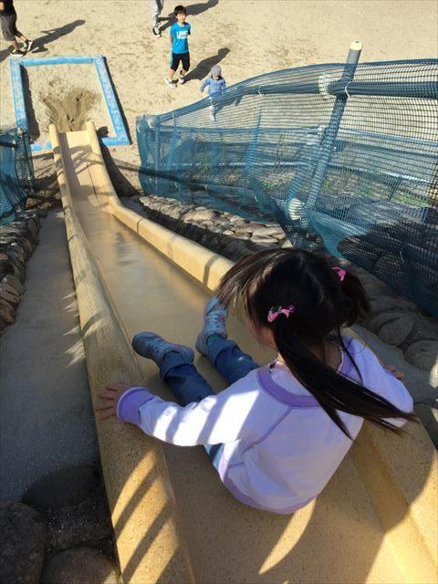 宝が池公園「子どもの楽園」滑り台、上から撮影