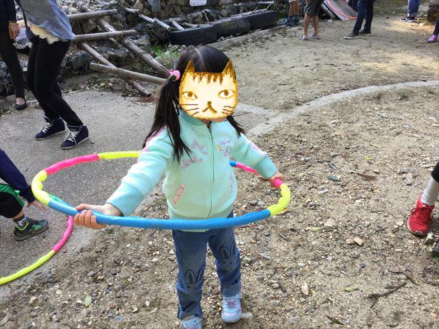 宝が池公園「子どもの楽園」プレイパークゾーン、フラフープ