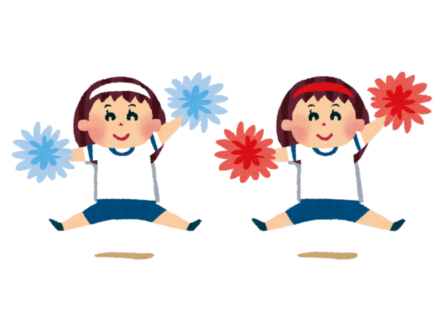運動会でダンスを踊る幼稚園児