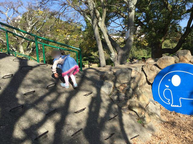 「明石公園」こども広場の遊具