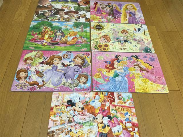 購入したディズニーの子供用ジグソーパズル7種類