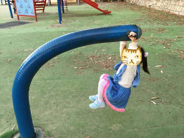 神戸総合運動公園「冒険のくに」ぶら下がり遊具