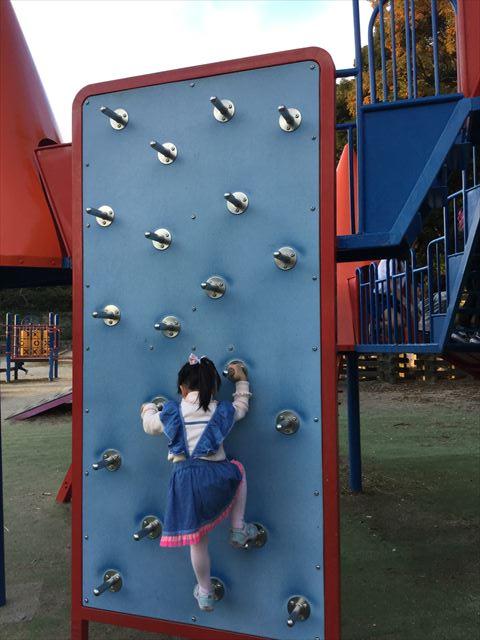 神戸総合運動公園「冒険のくに」ロッククライミング