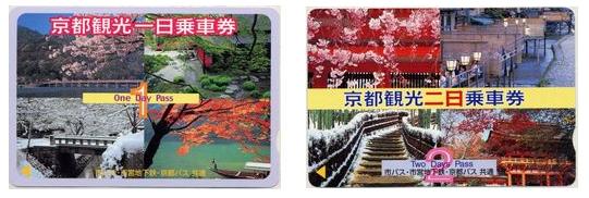 フリーチケット「京都観光一日(二日)乗車券」