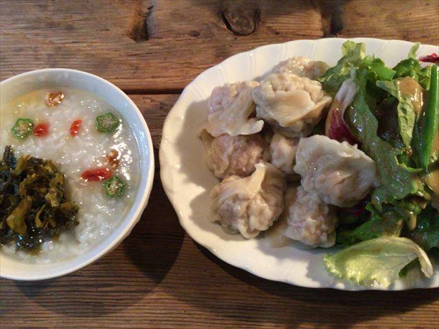中国茶専門店「無茶苦茶」のランチ「水餃子と中国粥」