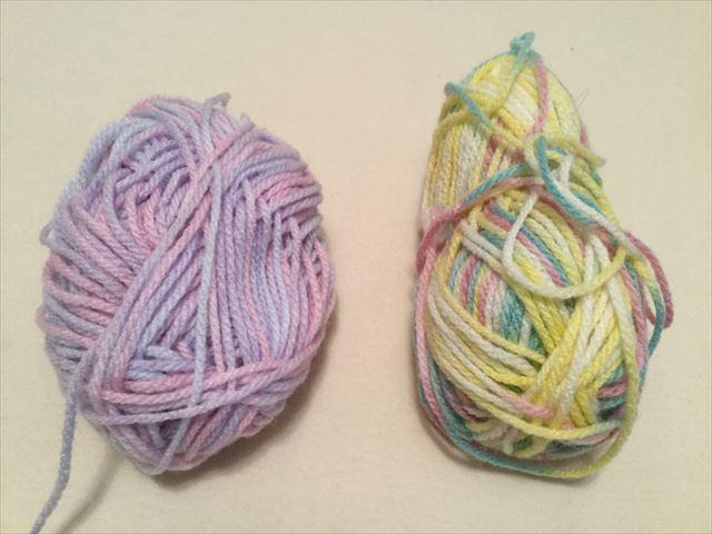 カラフルな毛糸を購入