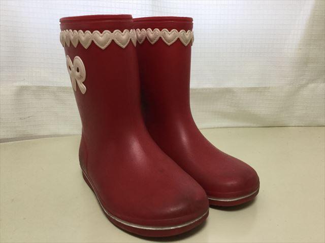 子供服スーリー(souris)の長靴、赤色斜め前から撮影