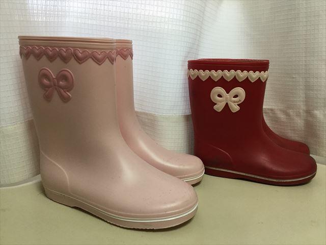 子供服スーリー(souris)の長靴、新たに購入したピンク
