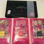 「神戸モリーママ」ラスクマリアージュの神戸078リッチショコラと、ラスクのメイプル・ストロベリー・アールグレイ(紅茶)全4つのパッケージ