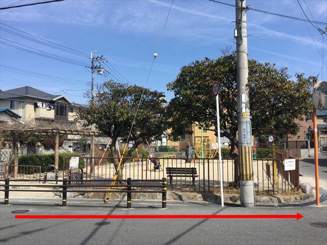 吹田氏千里山松ヶ丘にある小さな公園