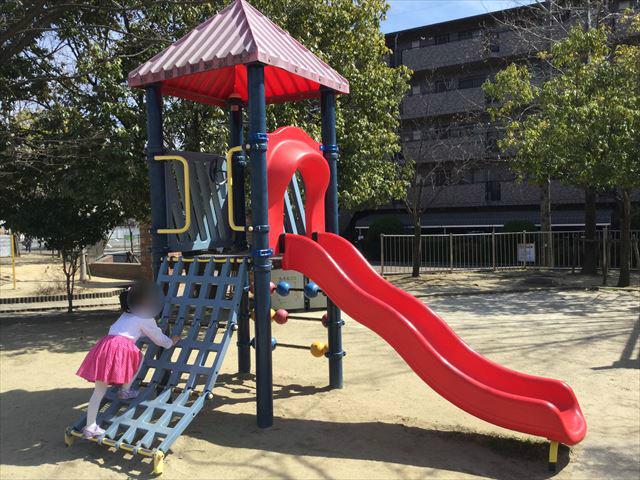 「佐井寺南が丘公園」幼児用滑り台