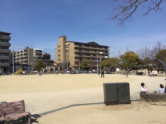 「佐井寺南が丘公園」ボール遊びができるエリア