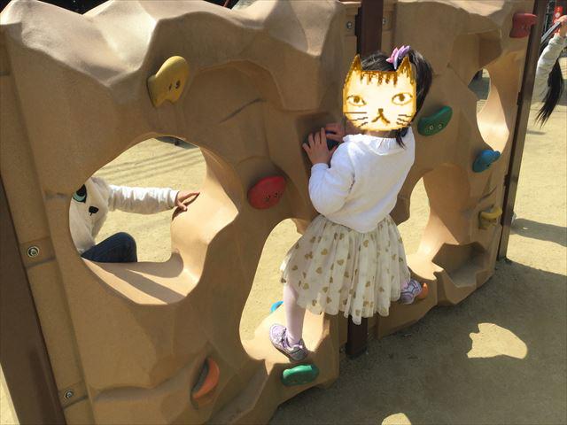 池田市「五月山公園」忍者のとりで、ボルダリング
