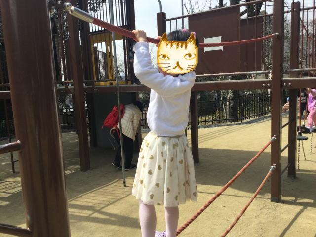 池田市「五月山公園」忍者のとりで、綱渡り