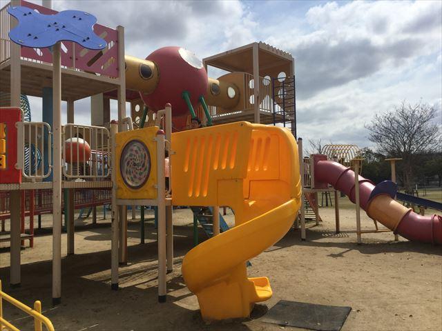 「末広中央公園」回転滑り台
