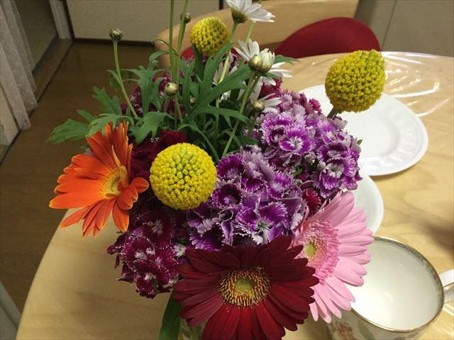 道の駅「愛彩ランド」農産物直売所で購入した花