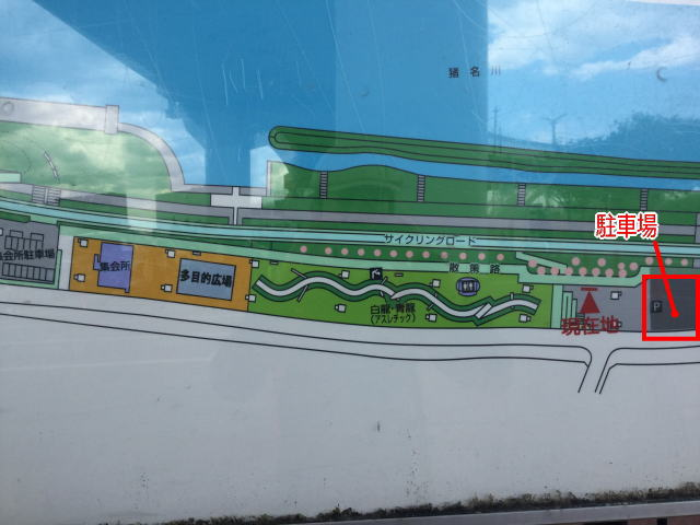 ドラゴンランドと隣の駐車場の地図