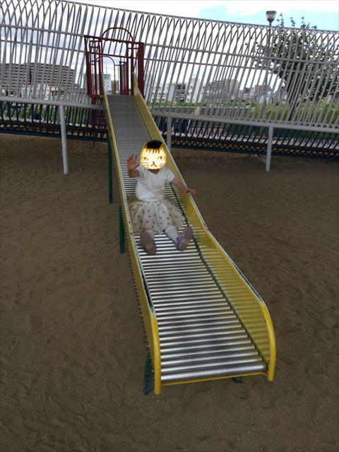 川西市「ドラゴンランド」の遊具、ローラー滑り台