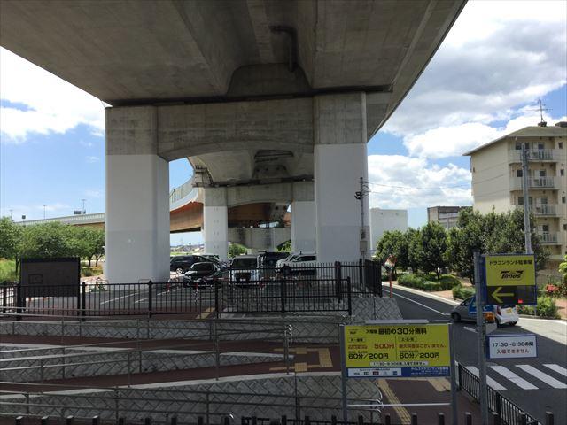 ドラゴンランドの駐車場