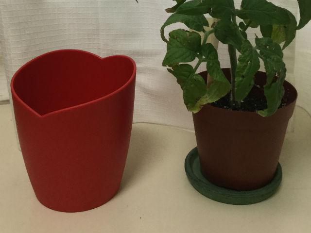 花瓶の水が下に流れるように水受けに変更