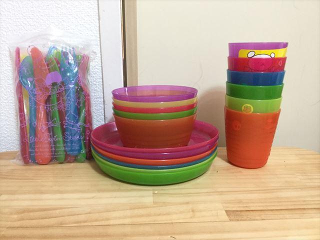 IKEA「KALAS」子供用食器セット(お皿・ボウル・コップ・ナイフ・フォーク・スプーン)