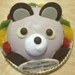 アンテノールのアニバーサリーケーキ「アニマルデコクマさんケーキ」前方から撮影