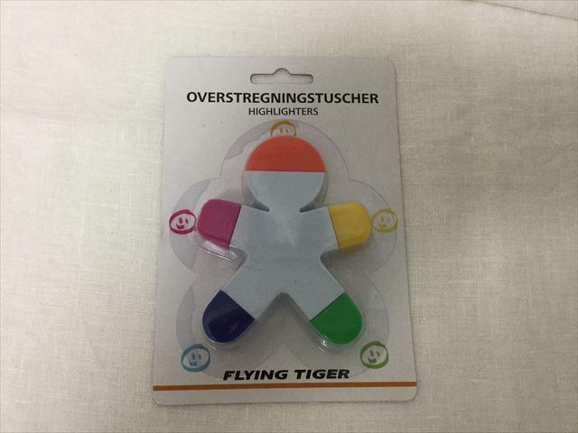 フライングタイガーコペンハーゲンで買った人の形をした5色蛍光ペン