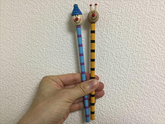 フライングタイガーコペンハーゲン、人形の顔がついた鉛筆2本