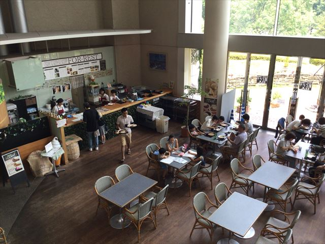 大阪市立自然史博物館の喫茶コーナー「FOR-REST」
