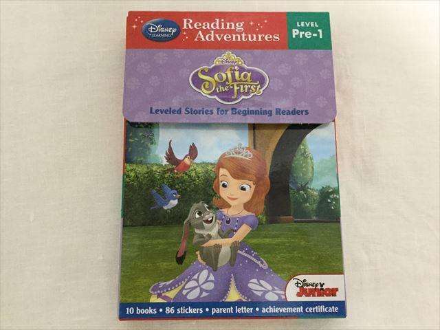 プリンセスソフィアの英語絵本「Reading Adventures(Level Pre-1)」パッケージ表紙