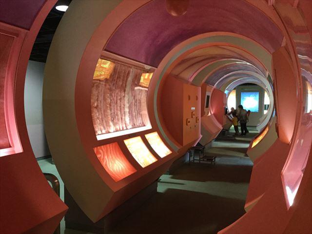 「バンドー神戸青少年科学館」2階「生命の科学」体の中を歩く