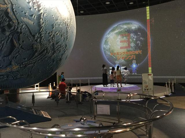 「バンドー神戸青少年科学館」2階「宇宙と地球」体験ブース