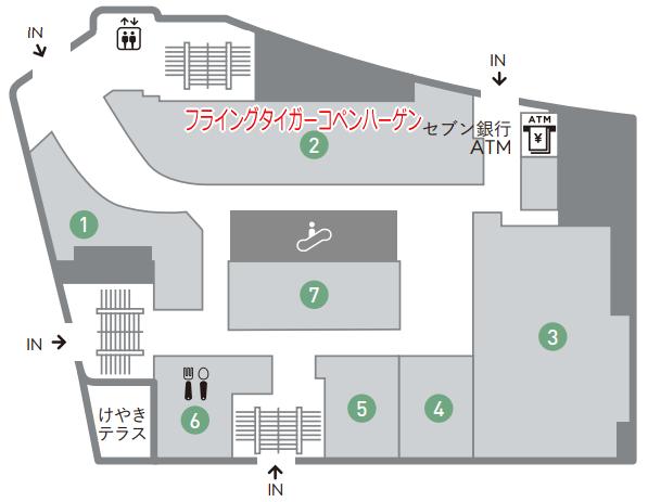 静岡東急スクエア1階フロアーマップ