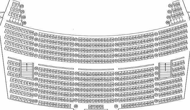 「周南市文化会館」大ホール2階座席表
