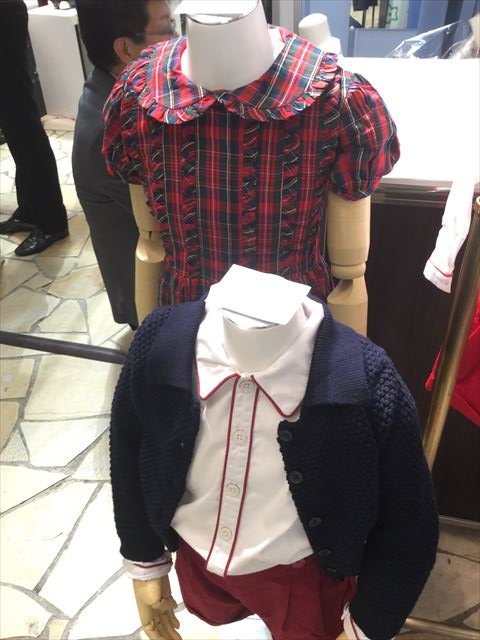 阪急うめだ本店「英国フェア2017」レイチェルライリーの子供服