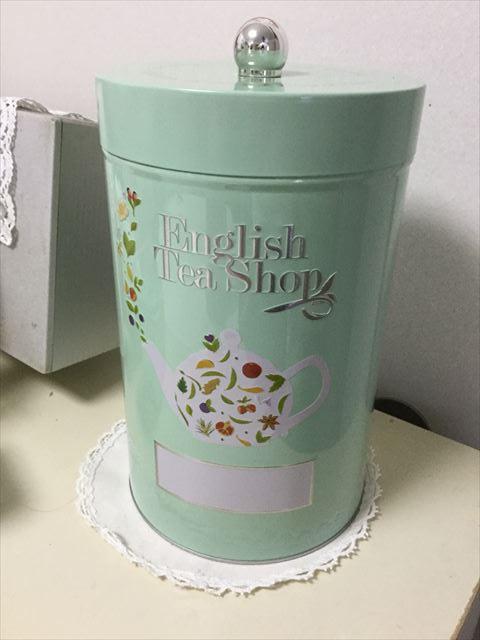 阪急うめだ本店「英国フェア2017」English Tea Shopライトグリーン缶