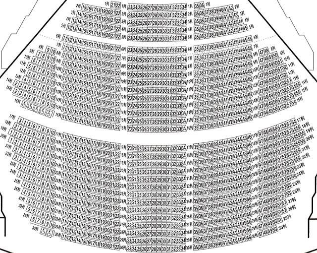 レクザムホール1階座席表
