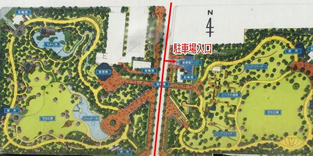 元浜緑地の駐車場地図