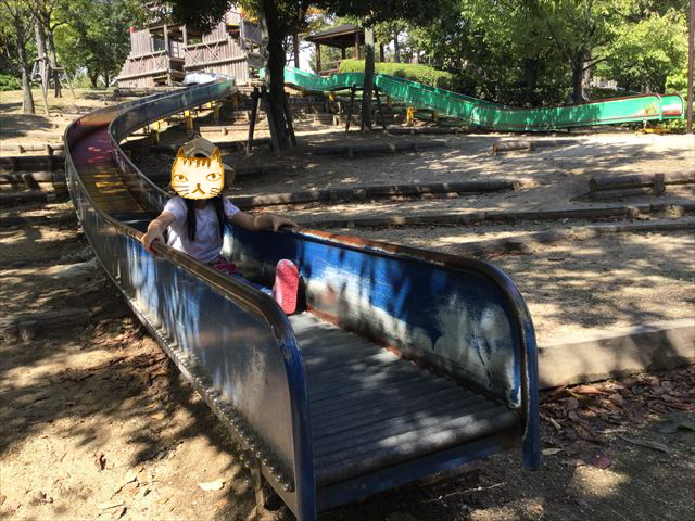 元浜緑地「ローラー滑り台」2つ