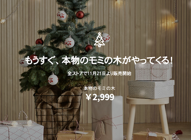 IKEA(イケア)のもみの木2019
