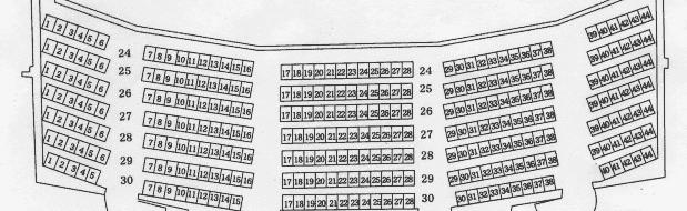 秋田市文化会館大ホール2階座席表