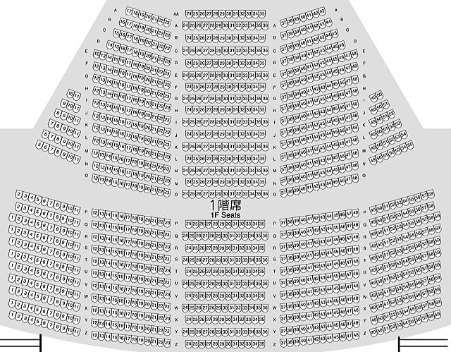 長崎ブリックホール大ホール1階座席表