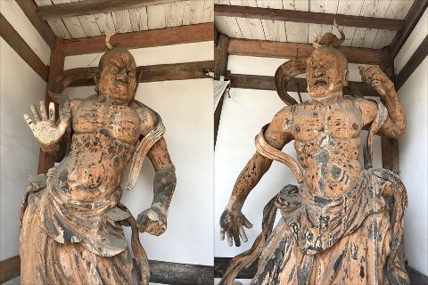 宝積寺「木造金剛力士立像」阿形と吽形