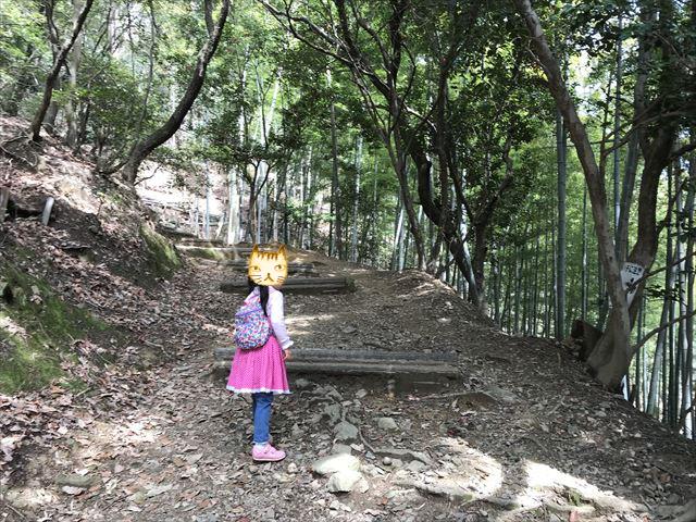 天王山登山中の子供の様子