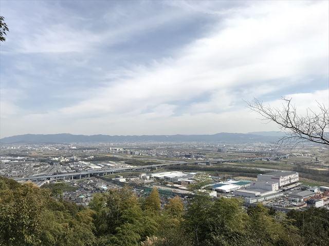 天王山登山「旗立松展望台」から見える景色